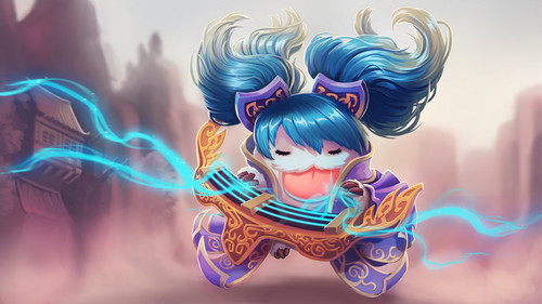 League Of Legends Wallpaper Entitled Poro Sona