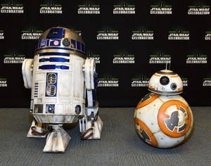 R2D2 and BB-8 at The estrella Wars Celebration