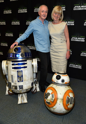 R2D2 and BB-8 at The stella, star Wars Celebration
