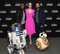 R2D2 and BB-8 at The star, sterne Wars Celebration
