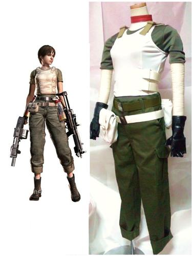 레지던트 이블 바탕화면 containing a green beret, 전투복, 전투 드레스, 전투 복장, 피로, 피로감, and 군복 called Resident Evil Rebecca Chambers Cosplay Costume