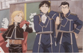 Roy Mustang, Edward Elric and Maes Hughes