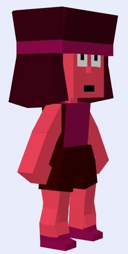 steven universe wallpaper called Ruby - Mnecraft