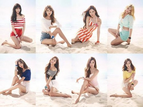 Girl's Generation/SNSD hình nền probably containing a bikini titled SNSD Casio Baby-G 2015 SS