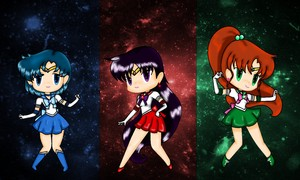 Sailor Scouts Wallpaper