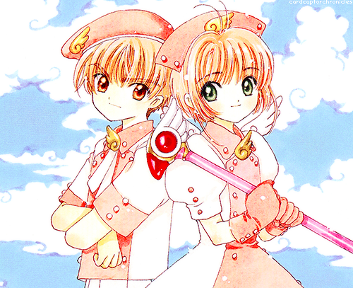 Cardcaptor Sakura wallpaper possibly containing anime called Sakura and Syaoran