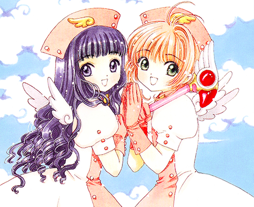 Cardcaptor Sakura پیپر وال containing عملی حکمت called Sakura and Tomoyo