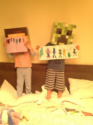 Samuel and holly drew a picture for stampylongnose