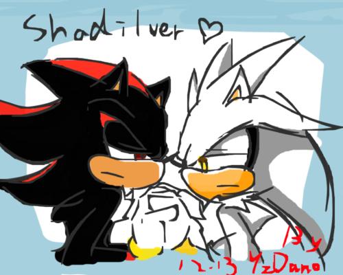 Sonic Yaoi karatasi la kupamba ukuta titled Shadow x Silver