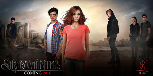 Shadowhunters TV Zeigen Hintergrund containing a well dressed person called Shadowhunters ~ TV Zeigen FanMade Poster