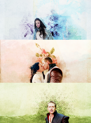 Once Upon A Time wallpaper containing a bridesmaid, a bouquet, and a business suit called Snow and Charming