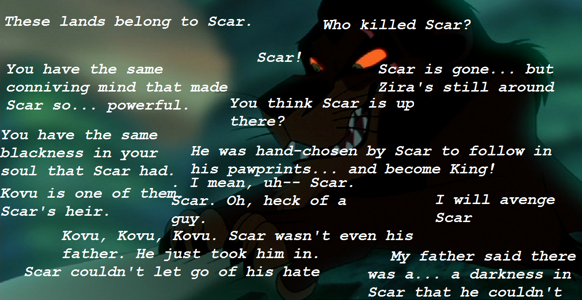 Some mentions of Scar in Simba's Pride