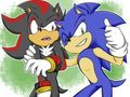 Sonic and Shadow - sonic-the-hedgehog fan art
