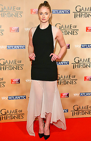 Sophie at the GOT Premiere in London
