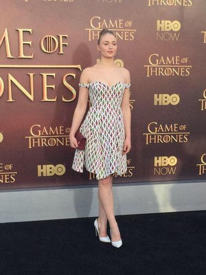 Sophie at the GoT Premiere