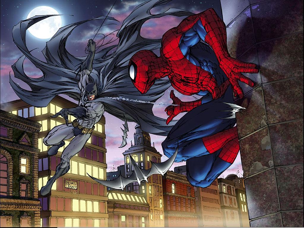 Spiderman And 蝙蝠侠
