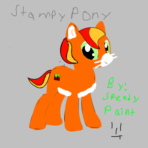 Stampy cat as a poney