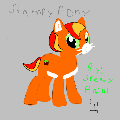 Stampylongnose Hintergrund possibly containing Anime titled Stampy cat as a pony