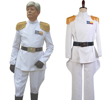 星, つ星 Wars Imperial Officer White Grand Admiral Uniform Cosplay Costume