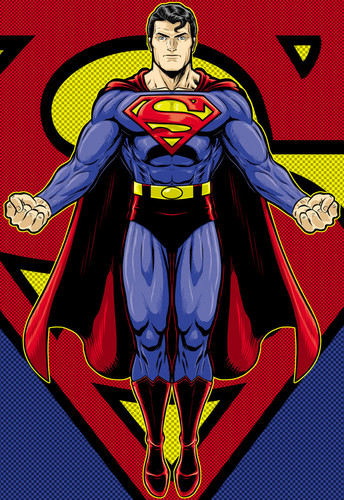Superman wallpaper containing Anime called Superman - fan art