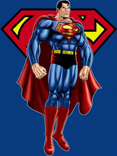Superman wallpaper possibly with Anime called Superman - fan art
