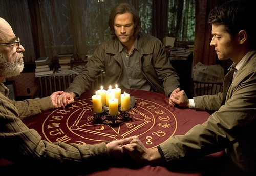 Sam Winchester wallpaper with a candle called Supernatural 10x17