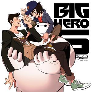 Tadashi, Hiro and Baymax