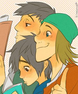 Tadashi, Hiro and Фред