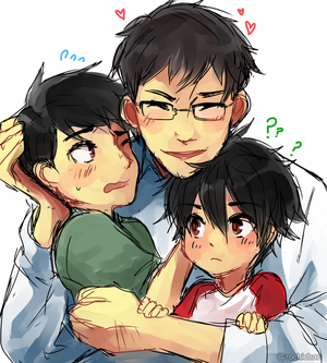 Tadashi and Hiro with their Father