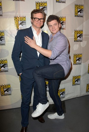 Taron Egerton and Colin Firth