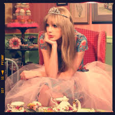 Taylor in a tiara and tutu