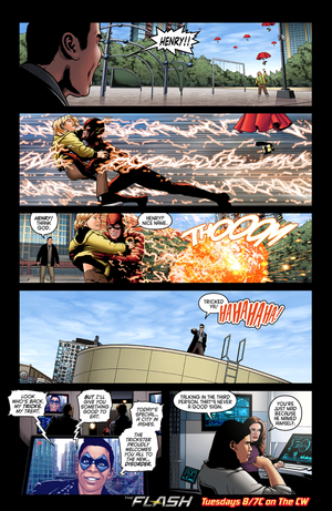 The Flash - Episode 1.17 - Tricksters - Comic pratonton