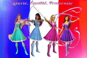 The Heroines of France: Barbie and the Three Musketeers