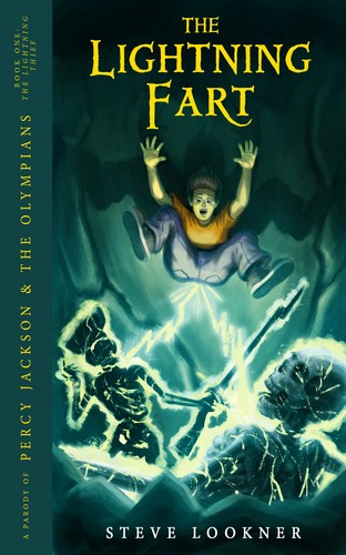 Percy Jackson & The Olympians boeken achtergrond with anime called The Lightning Fart: A Parody of The Lightning Thief