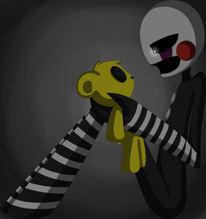 The Puppet and Golden Freddy (Sad Art)