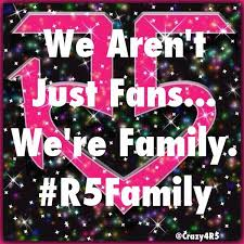 The R5 family united,never divided