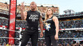 The Rock and Ronda Rousey - wwe photo