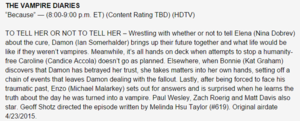 "The Vampire Diaries 6x19 ""Because"" Episode Synopse"