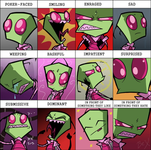 The many emotions of Zim.