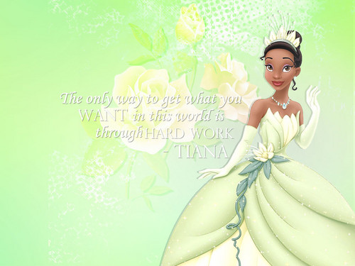 The Princess and the Frog wallpaper probably containing a bouquet, a makan malam dress, and a gaun entitled Tiana wallpaper
