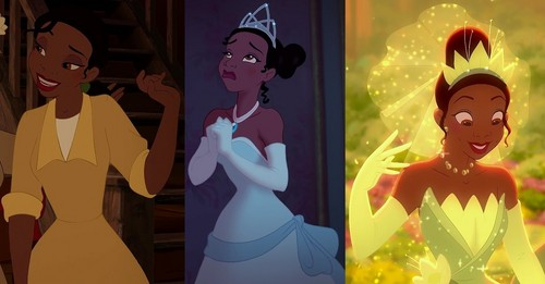 The Princess and the Frog wallpaper called Tiana and Her Dresses