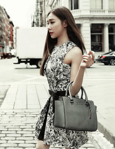 Tiffany Hwang fondo de pantalla possibly containing a calle and a hip boot called Tiffany - Grazia Korea Magazine editar