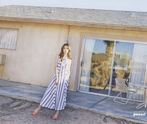 Girls Generation/SNSD wallpaper probably with a front porch and a patio titled Tiffany for Instyle Magazine April 2015