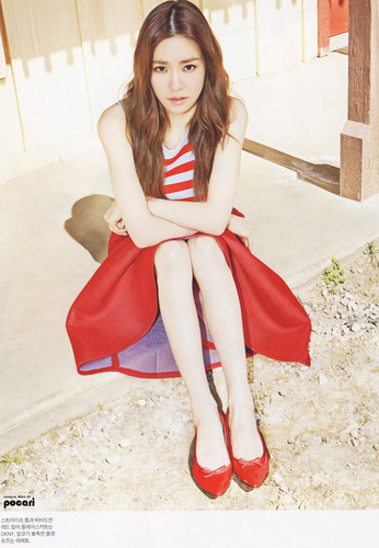 Tiffany Hwang wallpaper possibly with bare legs, hosiery, and a hip boot entitled Tiffany for Instyle Magazine April 2015
