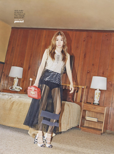 Tiffany Hwang fondo de pantalla probably containing hosiery, a dress, and a cóctel, coctel dress entitled Tiffany for Instyle Magazine April 2015