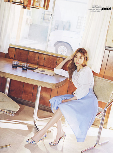 Tiffany Hwang wallpaper probably with a living room, a drawing room, and a breakfast area titled Tiffany for Instyle Magazine April 2015