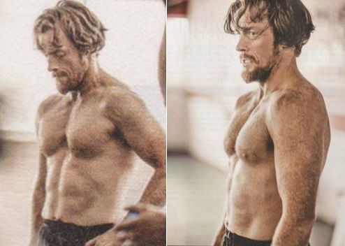 가장 핫한 남자배우 바탕화면 containing a six pack entitled Toby Stephens