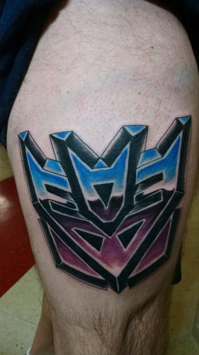Transformers wallpaper titled Transformers fan tattoo - Decepticons insignia