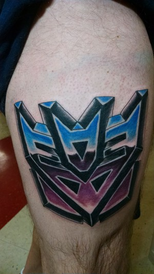 Transformers fan tattoo - Decepticons insignia