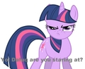 Twilight Doesn't Want You Staring At Her - my-little-pony-friendship-is-magic photo